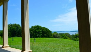 Visiting Mount Vernon and the National Treasure movie Walking Tour in Virginia by the Potomac River