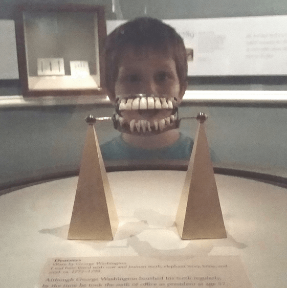 Wearing George Washington's Teeth at Mount Vernon