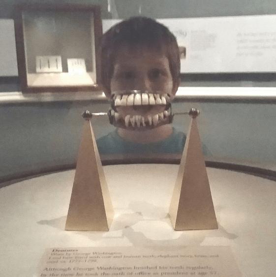Wearing George Washington's Teeth at Mount Vernon