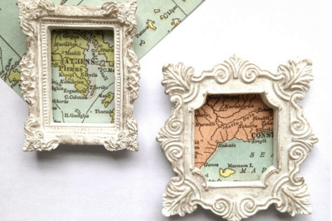 Travel Map Magnets DIY Keepsake Tutorial
