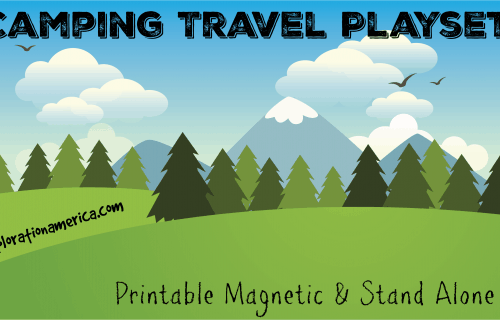 Camping Playset Travel Printable