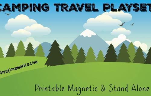 Camping Playset Travel Printable