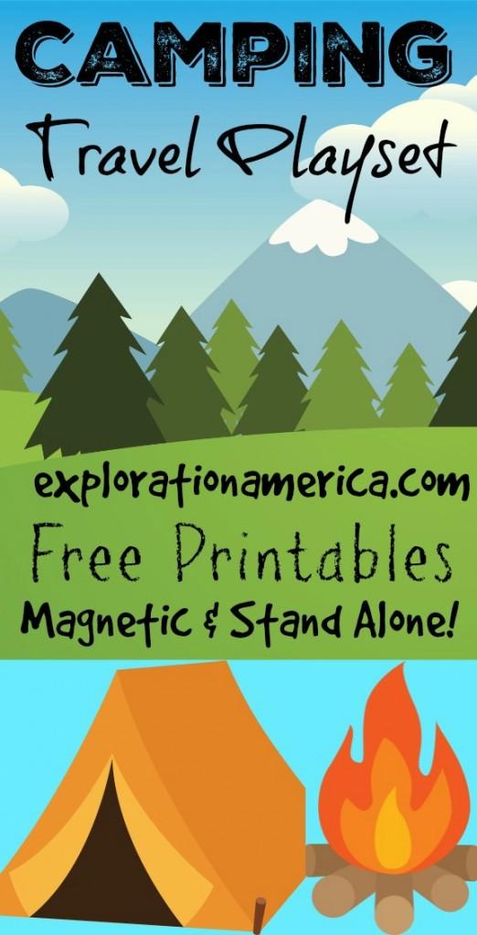 Camping Travel Playset Printables 2