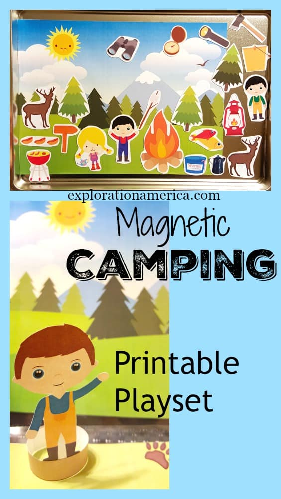 Magnetic Camping Printable Playset