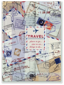 Travel Journal Notebook - perfect for keeping track of your memories and favorite places to stay as you explore!