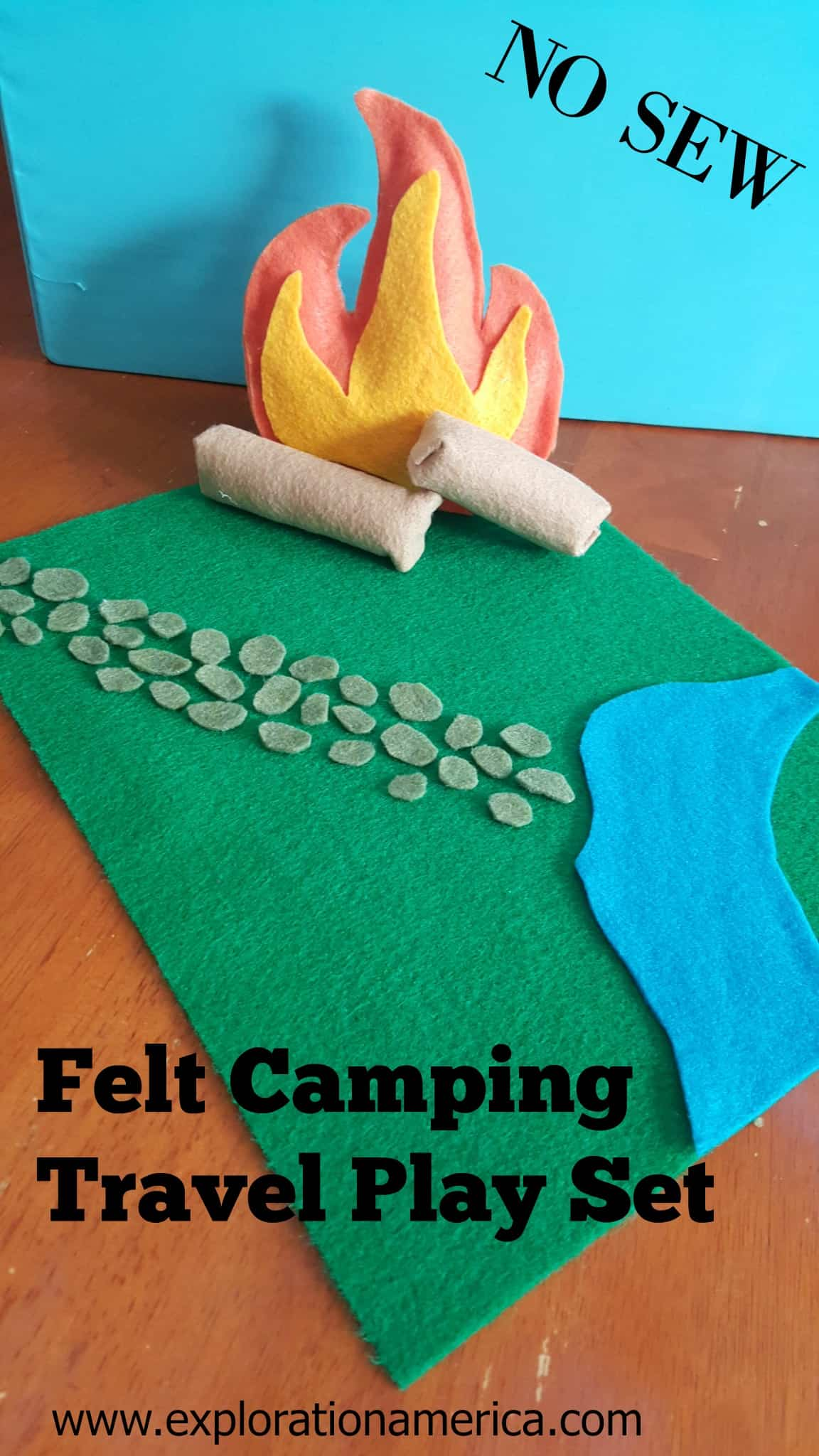 No Sew Felt Camping Travel Toys Play Set