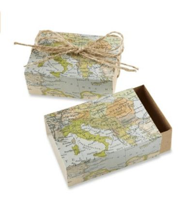 "Kate Aspen ""Around the World"" Map Favor Boxes"