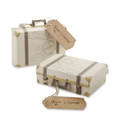 """Kate Aspen """"Bon Voyage"""" Vintage Suitcase Favor Box"""