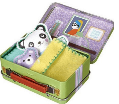Felt Animal Doll Travel Play Set Kit