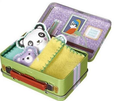 Felt Animal Doll Travel Play Set Kit