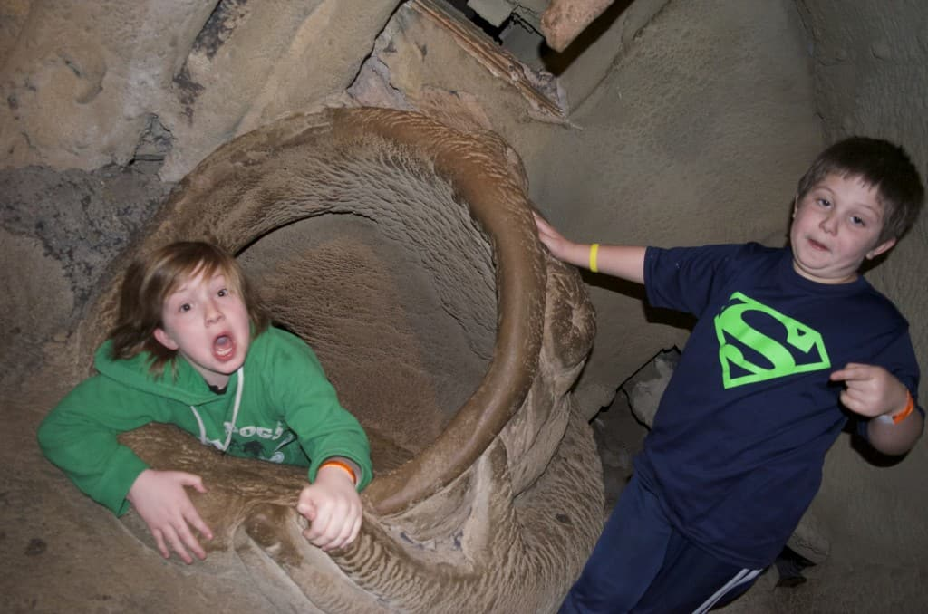 tunnels inside the City Museum in St. Louis, Missouri