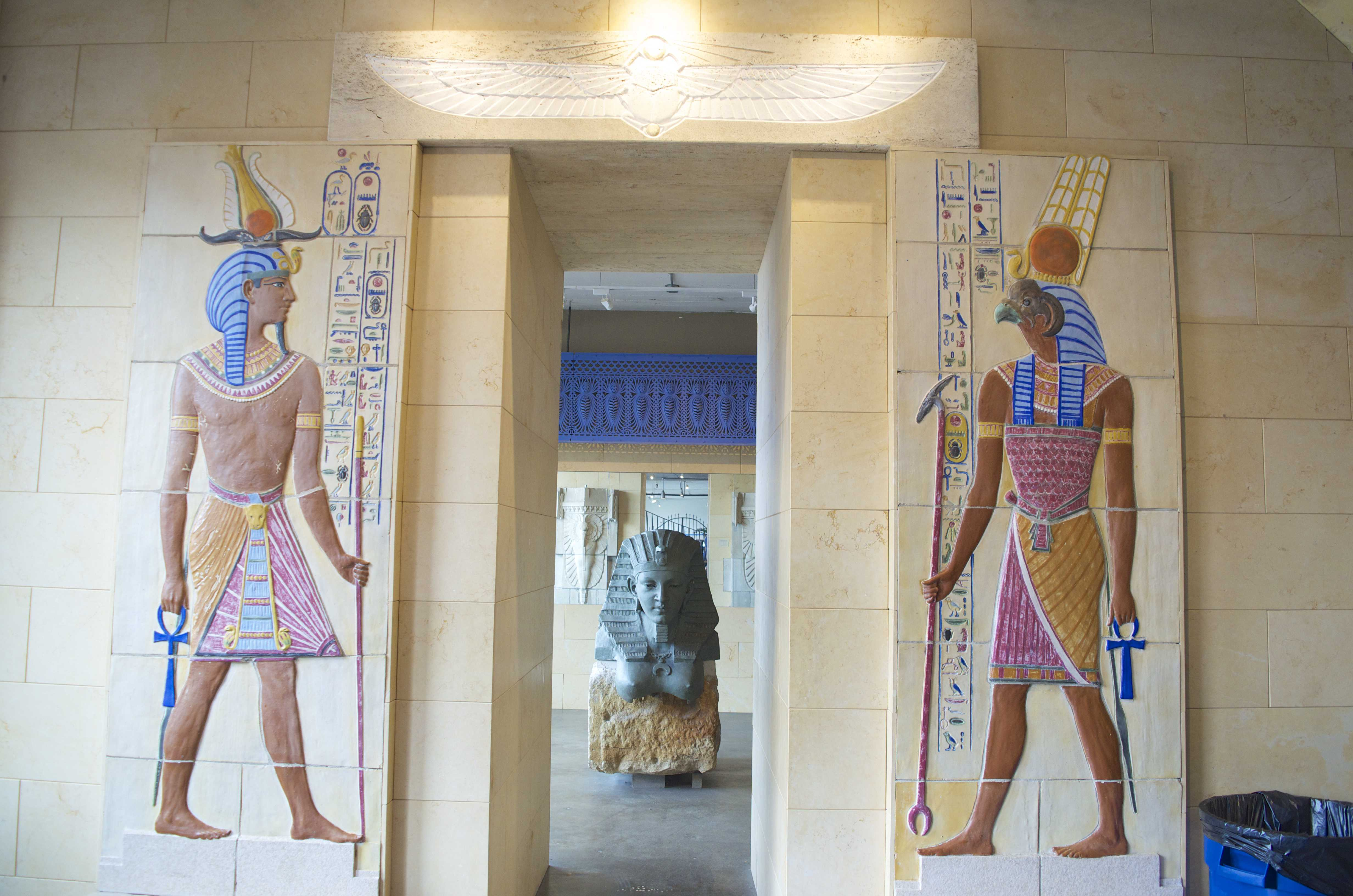 Egyptian art in the City Museum in St. Louis, Missouri