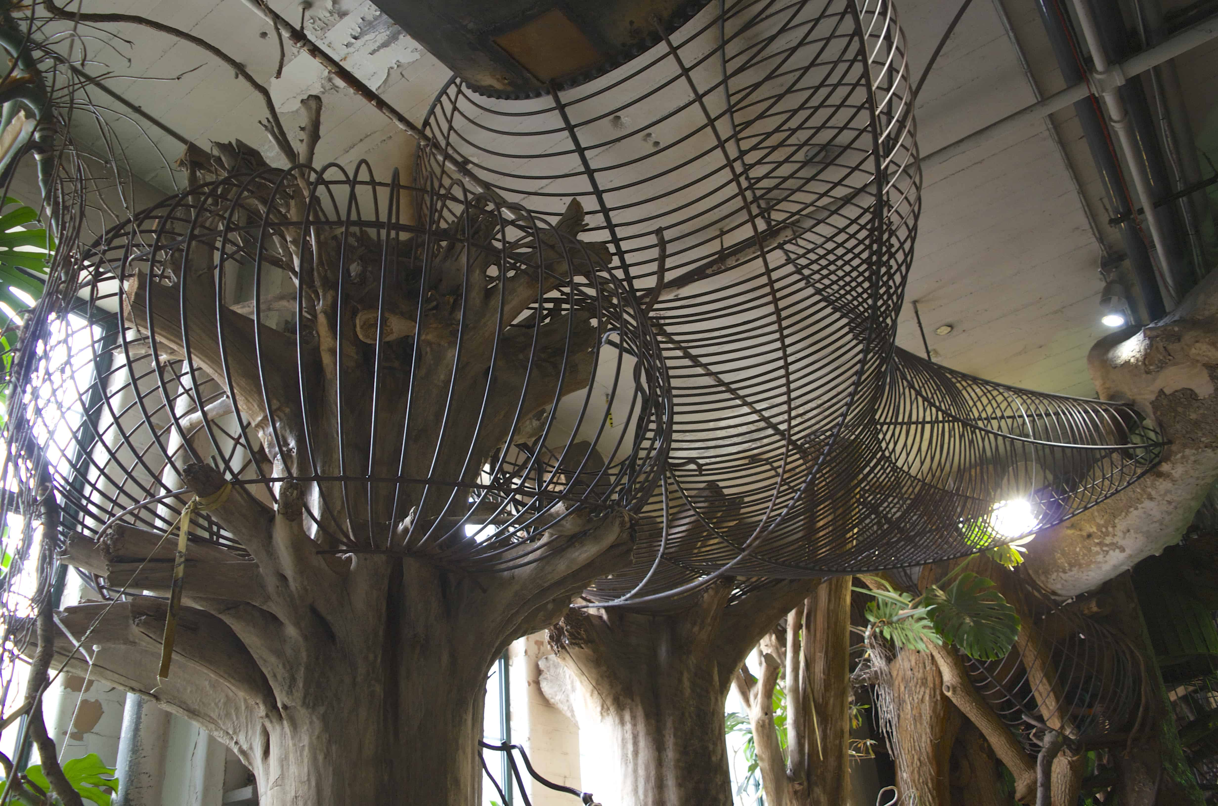 wire treehouse in the City Museum in St. Louis, Missouri