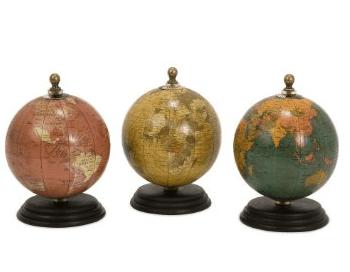Vintage Mini Globe Art