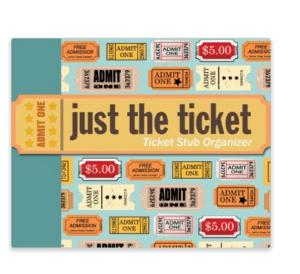 Travel Ticket Stub Organizer