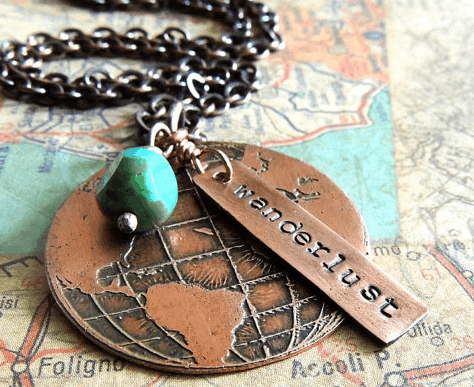 Wanderlust Travel Necklace