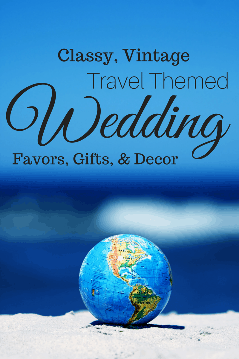 Classic Vintage Travel Wedding Favors, Gifts, and Home Decor