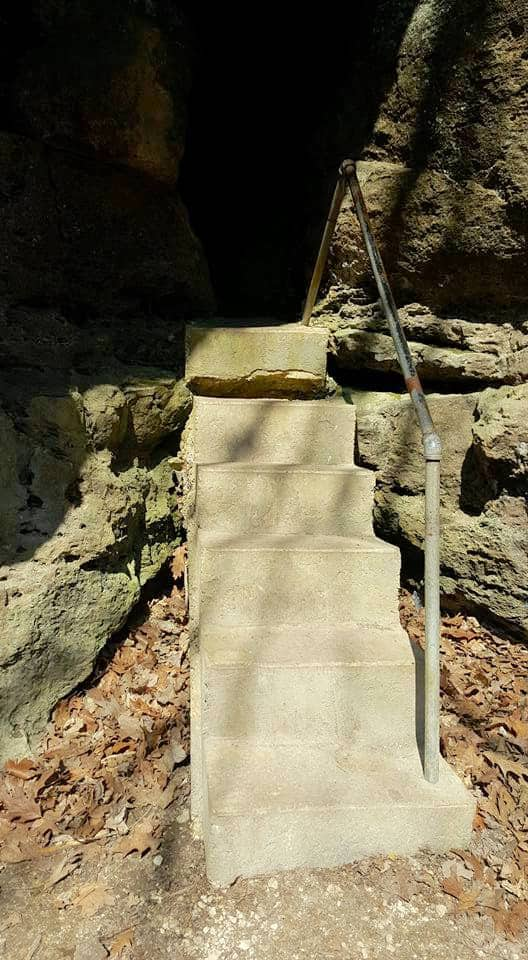 stairs to Ice Cave in Iowa - BEST Places to Visit in Central East Iowa