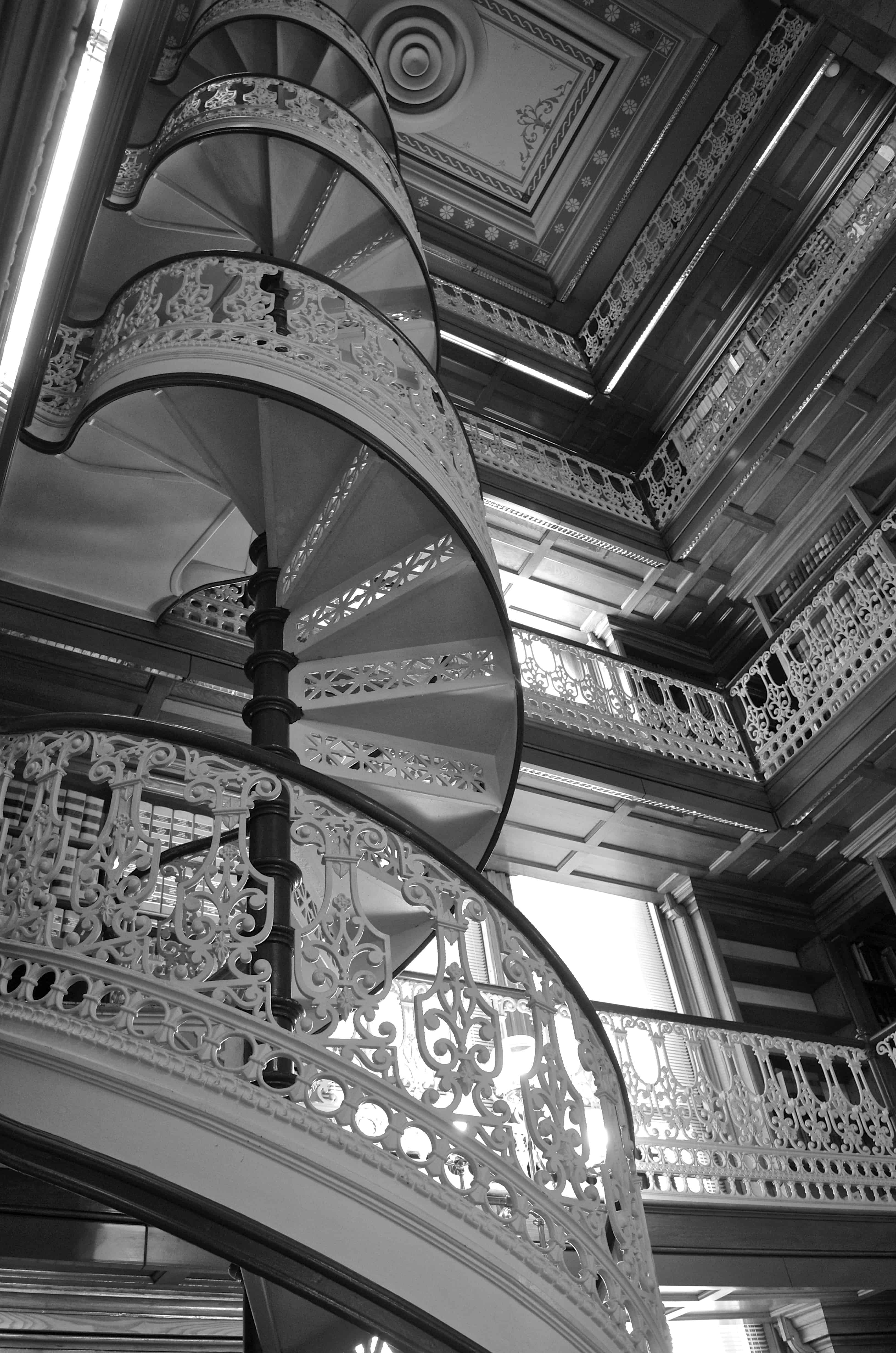 Library Stairs in Des Moines Iowa State Capitol Square Building