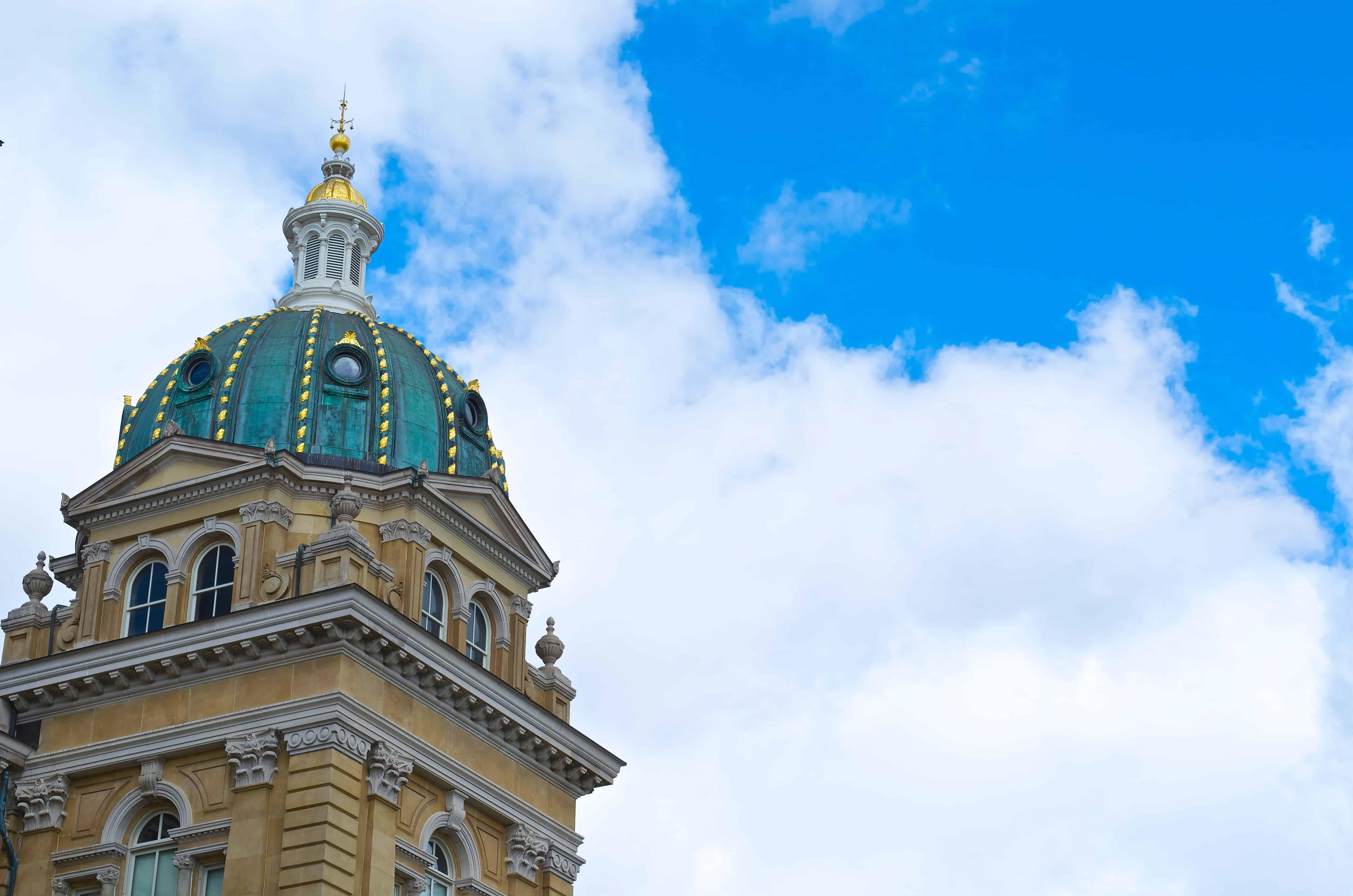 Des Moines Iowa State Capitol Square Building