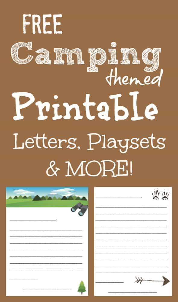 Free Printable Camping Letters, Playsets and more