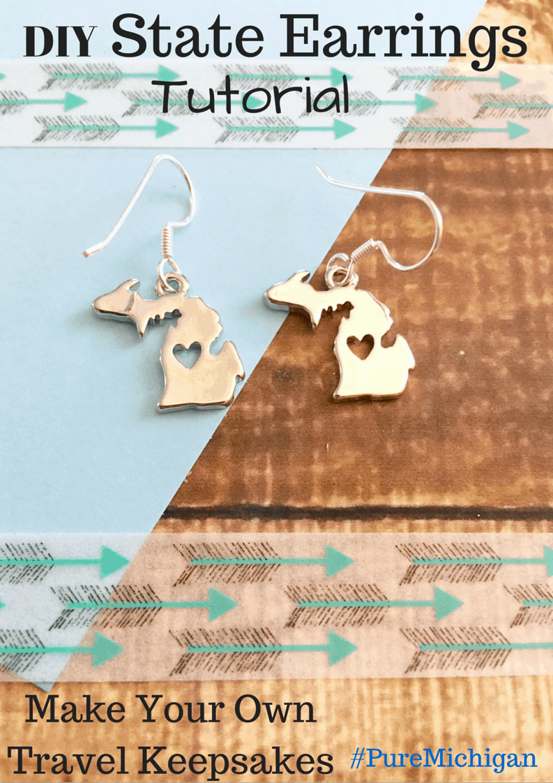 DIY Michigan State Earrings Travel Keepsake #PureMichigan