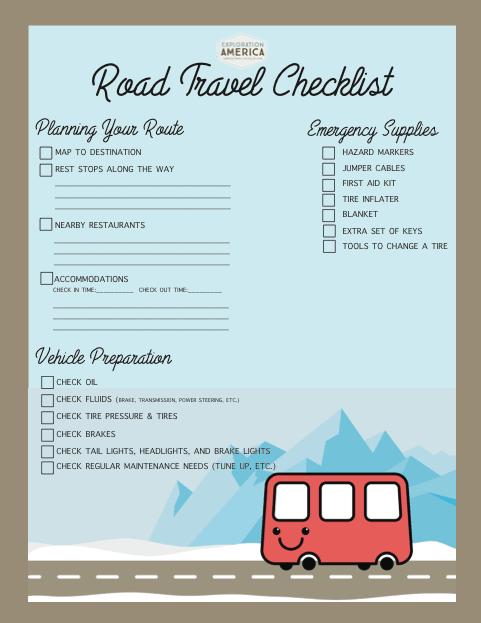Printable Packing List & Travel Checklist