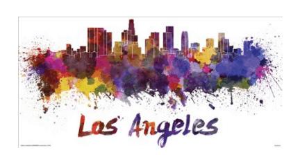 Watercolors Los Angeles City Travel Wall Art