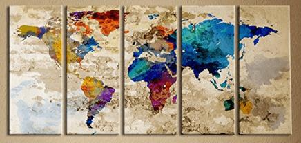 Large Canvas World Art watercolor travel inspiration