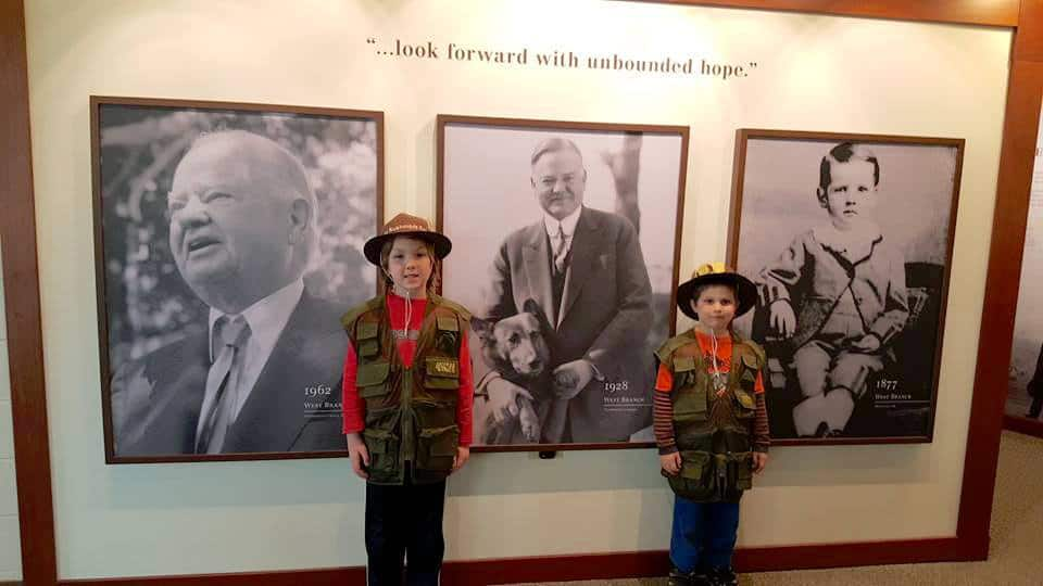 National Junior Ranger program at Herbert Hoover Historic Home