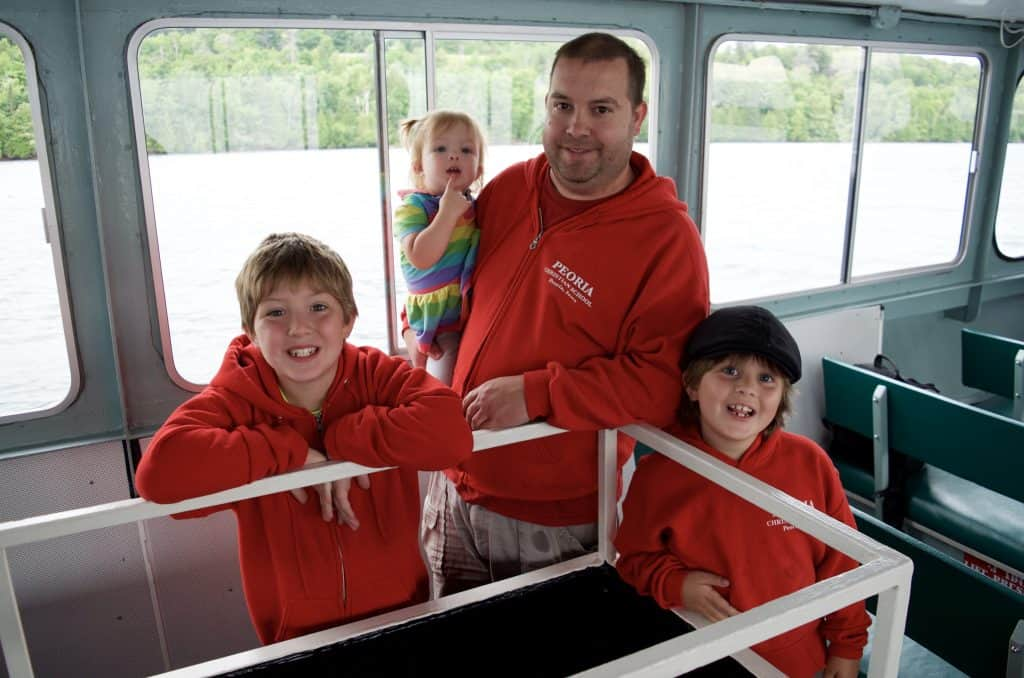 family on Shipwreck Tours on Lake Superior in Munising Michigan