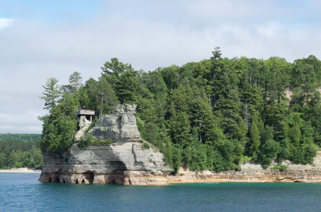 Miner's Castle Pictured Rocks Cruise on Lake Superior in Munising Michigan
