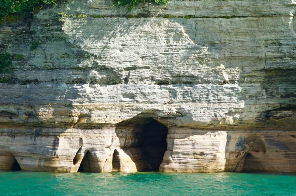 Sea Caves at Pictured Rocks Cruise on Lake Superior in Munising Michigan