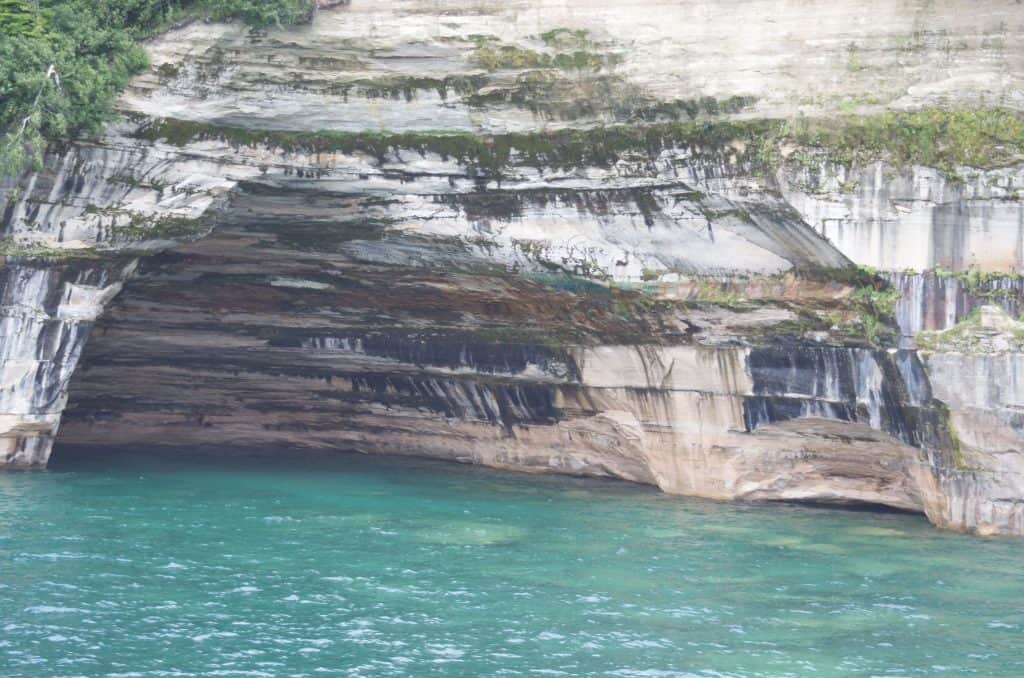 Sea Caves at Pictured Rocks Cruise on Lake Superior in Munising Michigan