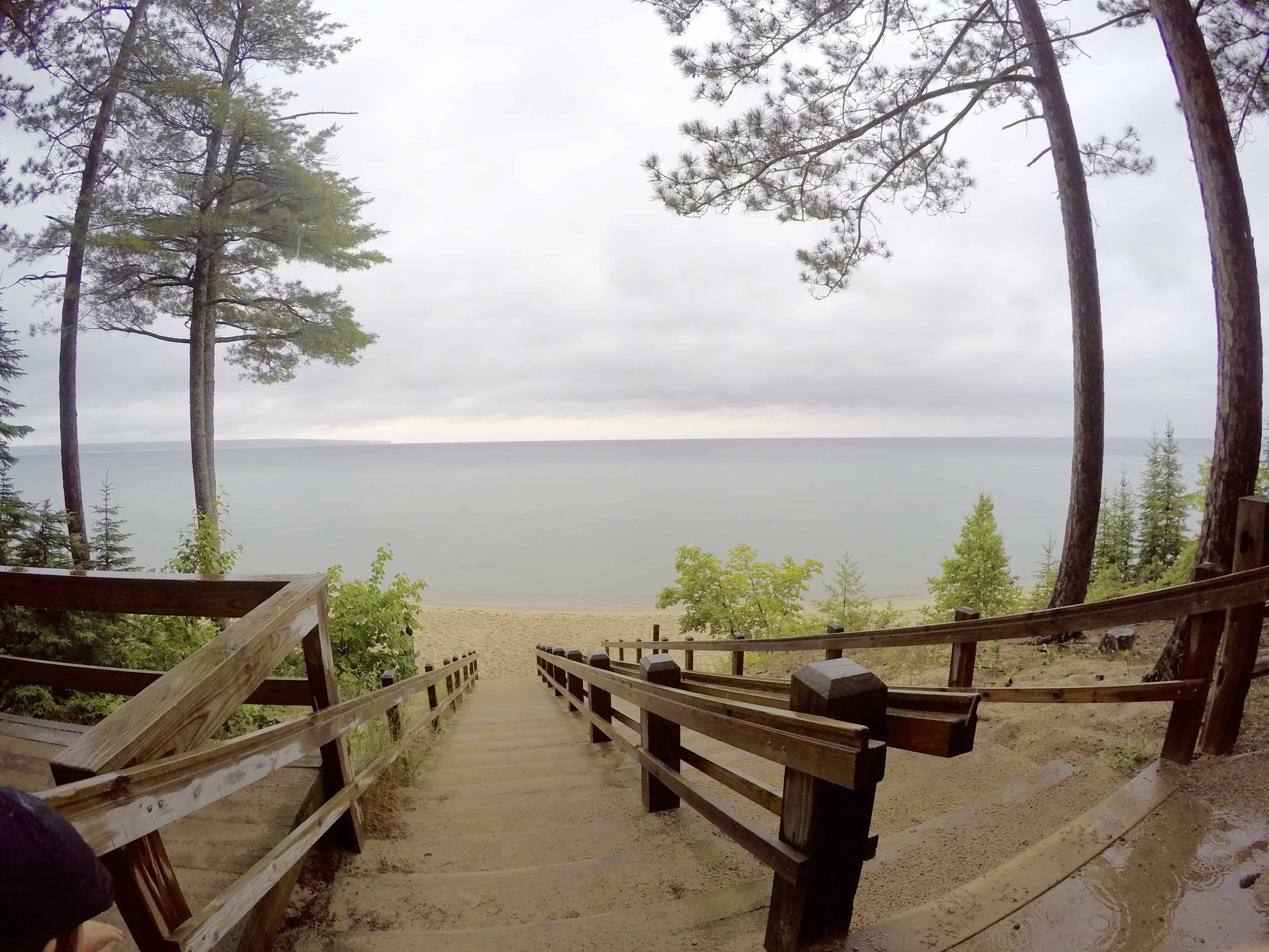 beautiful Miner's Beach Pictured Rock National Lakeshore Michigan on Lake Superior