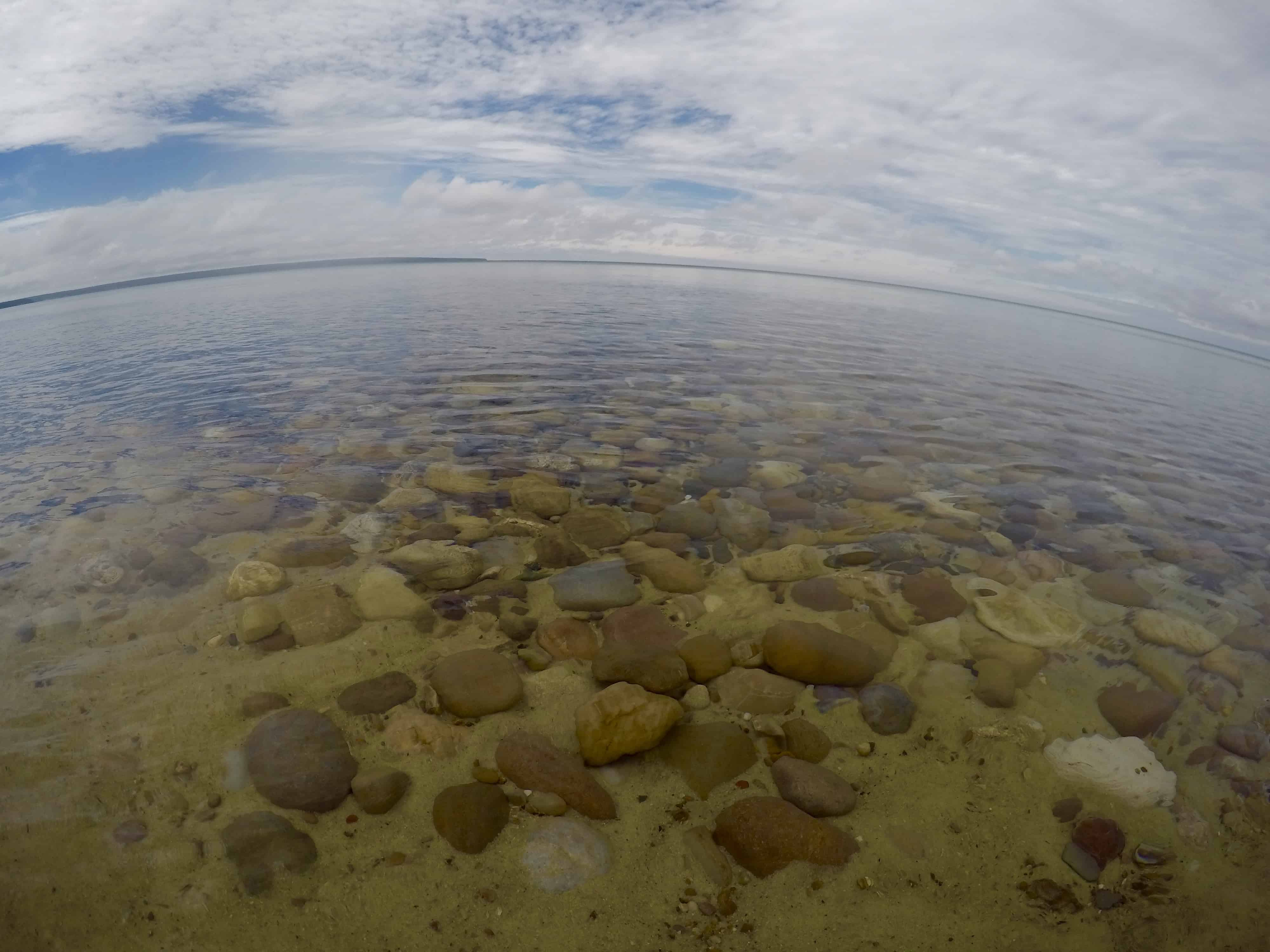 clear Miner's Beach water on Michigan's Lake Superior