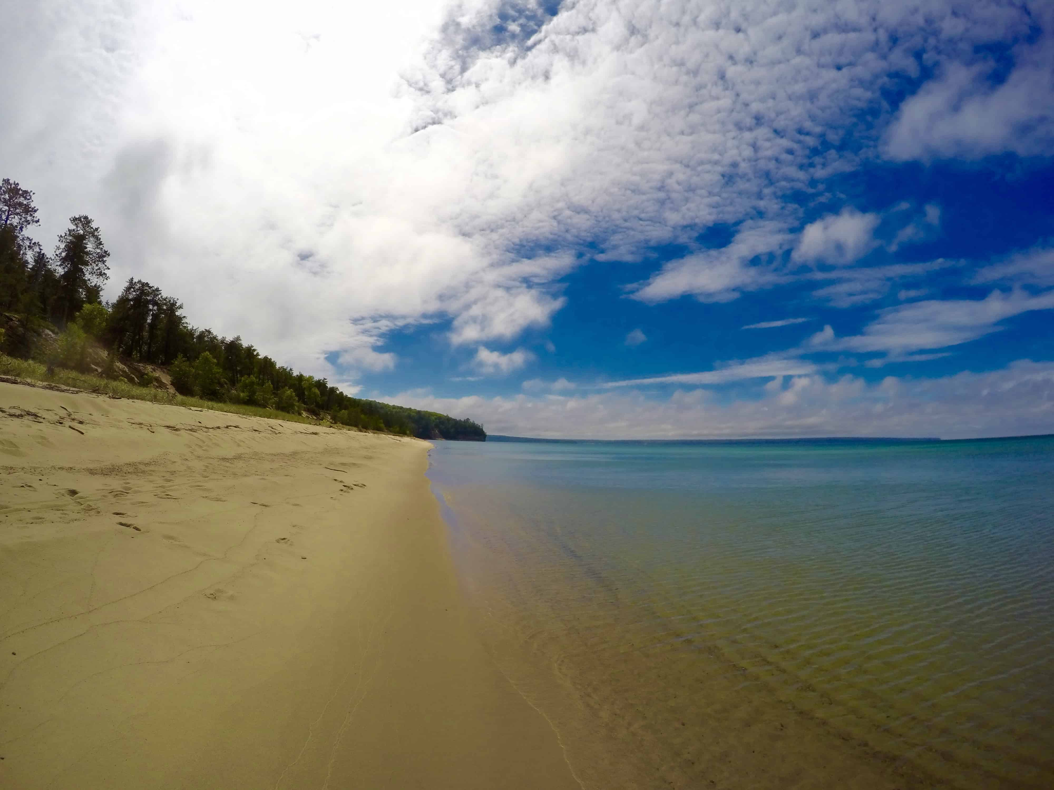 scenic beautiful Michigan view at Pictured Rocks National Lakeshore