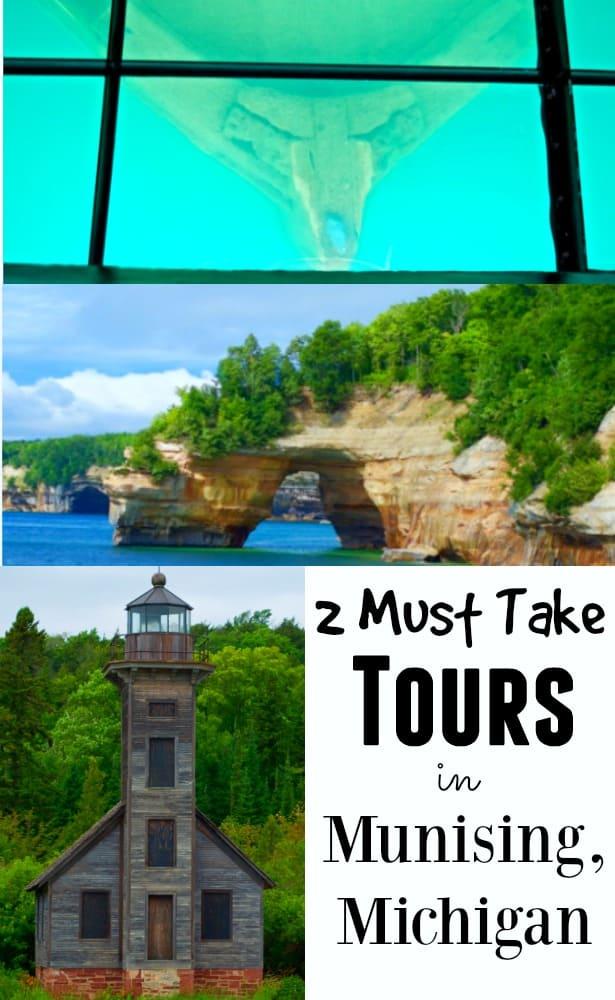 shipwrecks, caves and lighthouses Munising Michigan