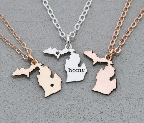 Michigan State Necklace Jewelry