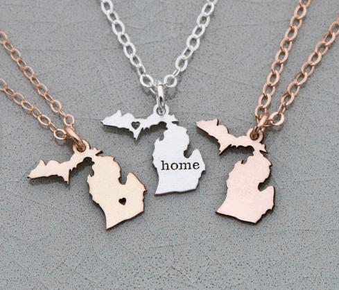 Michigan State Necklace Jewelry