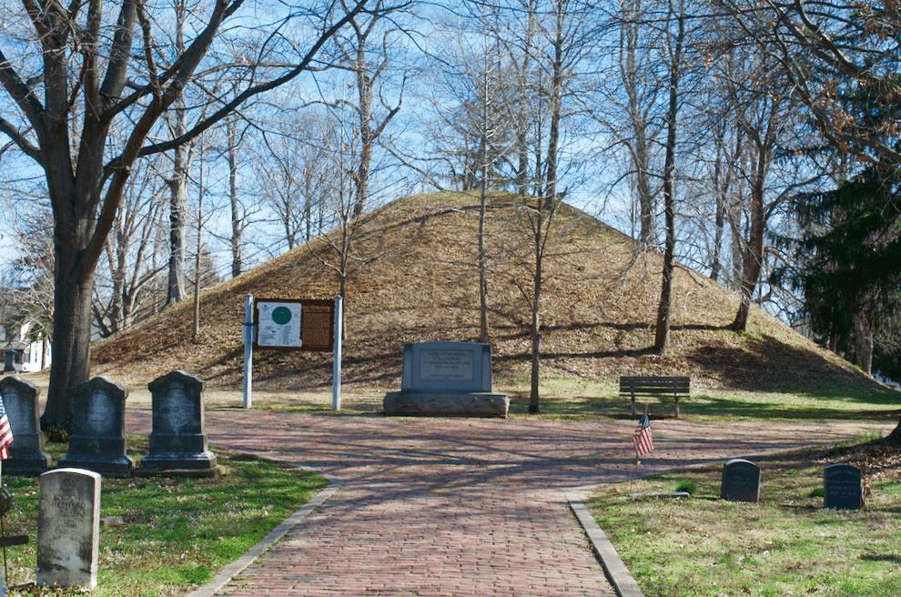 Earthworks Mounds Cemetery in Marietta Ohio
