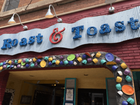 Roast & Toast coffee shop in Petoskey Michigan