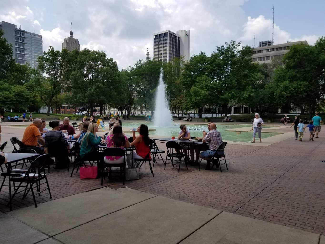One Day for Some Really Good Food in Fort Wayne, Indiana - Lunch on the Plaza