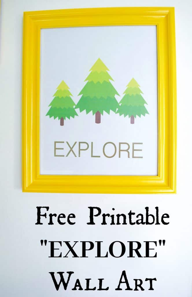 Free Printable Travel Adventure Explore Wall Art