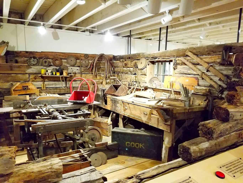historic wood workshop at Cranberry Festival