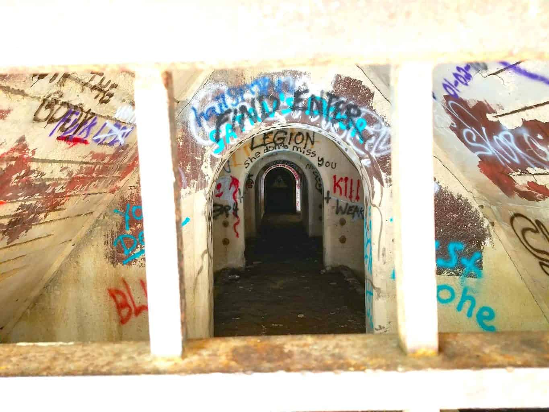 graffiti in tunnel in park at Joliet Illinois