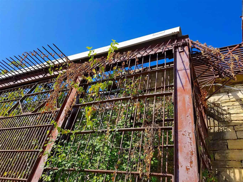 rustic prison bars from Old Joliet Prison Illinois