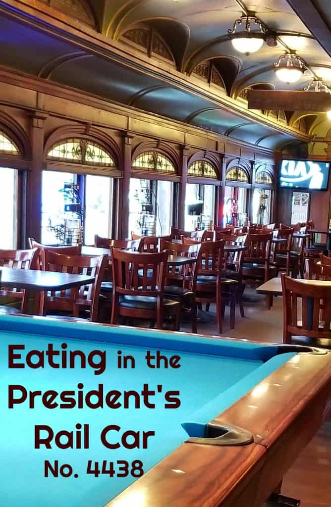 Where to Eat Dinner in the President's Train Rail Car No. 4438