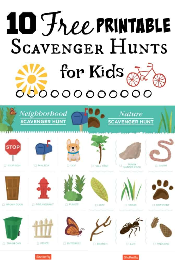 10 Printable Travel Scavenger Hunt Games for Kids