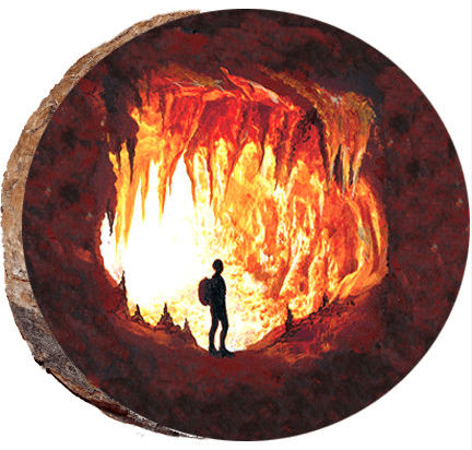 Cave Explorer Wood Ornament